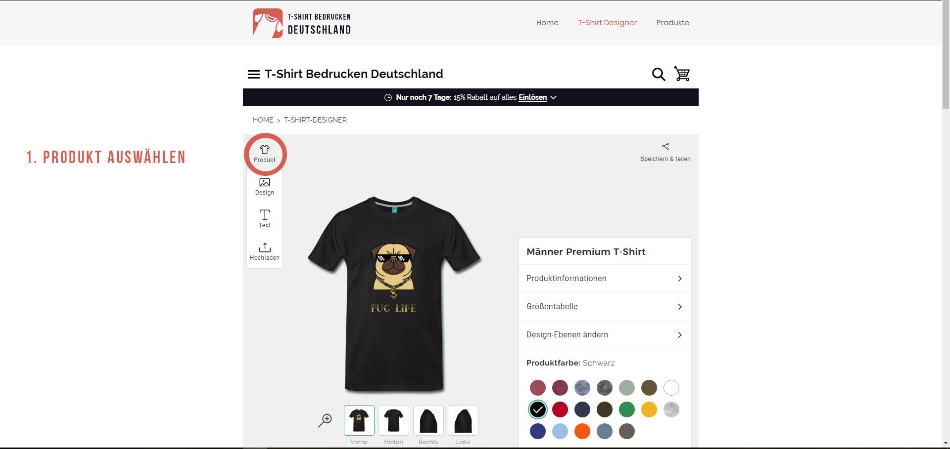 finest selection 26c78 c0f23 T-Shirt bedrucken & T-Shirts gestalten - Shirt Druck