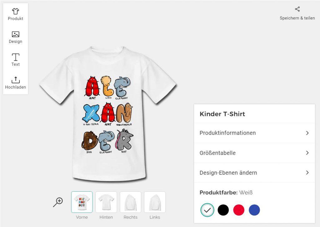 Kinder T-Shirt bedrucken auf T-Shirt bedrucken Deutschland